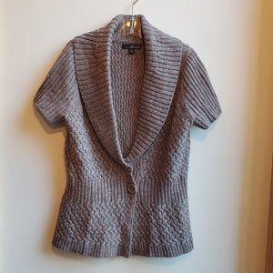 Willi Smith Short Sleeve Cardigan Size Large